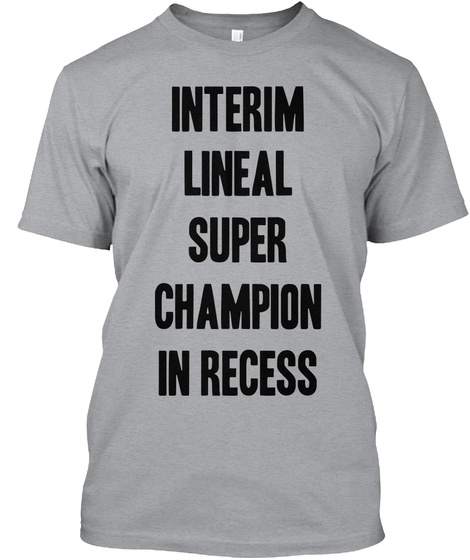 Interim Lineal Super Champion In Recess Heather Grey T-Shirt Front