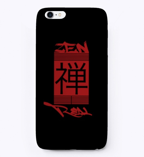 Zen Real   Flagship I Phone Case Black T-Shirt Front