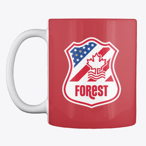 Famous 4 / Logo Mug Bright Red T-Shirt Front