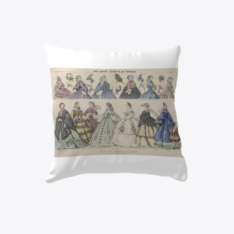 Ladies On Parade Pillow White T-Shirt Front