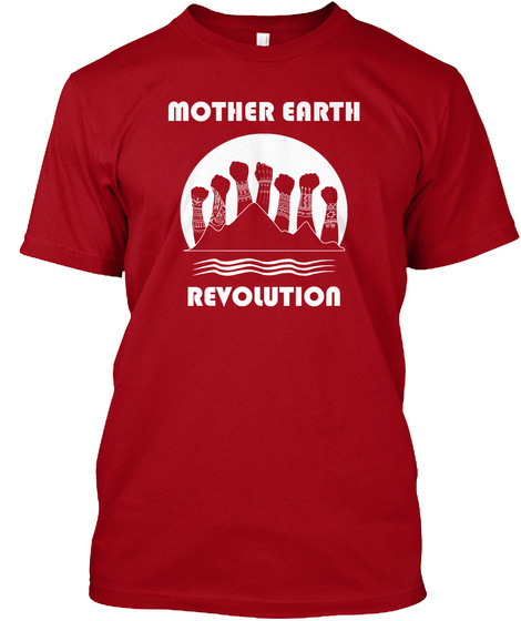 Mother Earth Revolution Deep Red T-Shirt Front