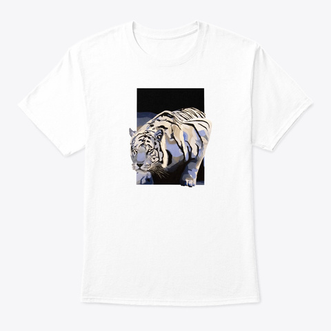 On The Prowl White T-Shirt Front