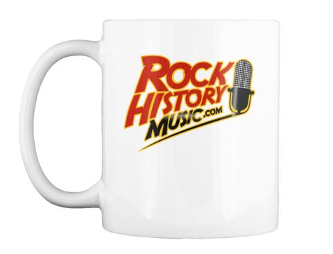 Rock History Music Mug White Mug Front