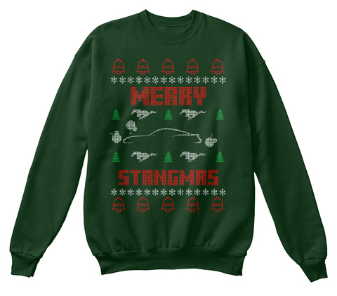 Mustang S550 Ugly Christmas Sweater Merry Stangmas Products From