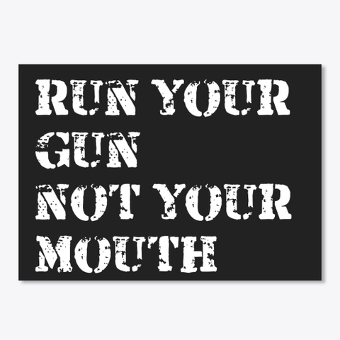 Shut Up And Blast Black T-Shirt Front