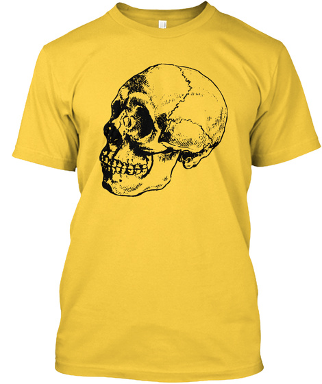 Wild Witches Party, Halloween, Skull Yellow T-Shirt Front