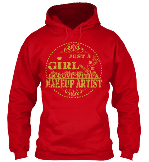 Makeup Artist Red T-Shirt Front