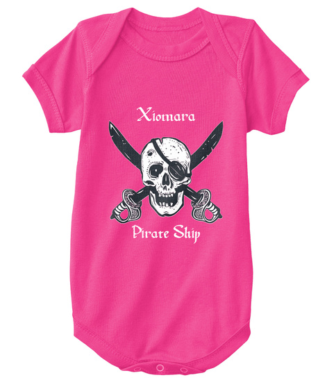 Xiomara's Pirate Ship Hot Pink T-Shirt Front