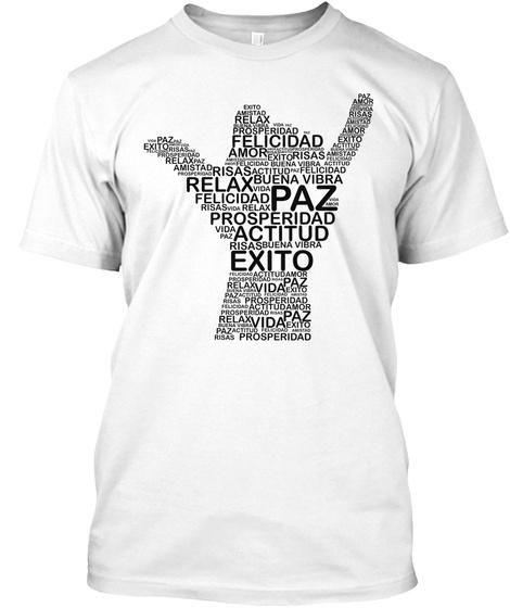 Paz White T-Shirt Front