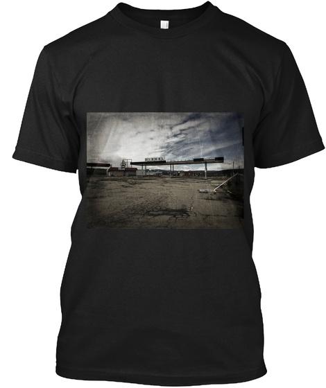 Abandon Town Black T-Shirt Front