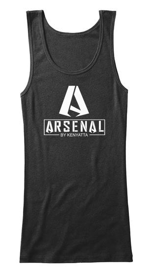 Arsenal By Kenyatta Black T-Shirt Front