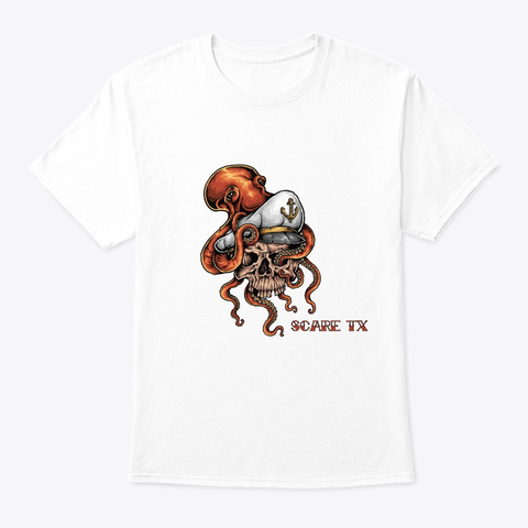Blinded By The Sea White T-Shirt Front