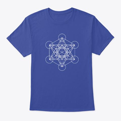 """""""Cubo Di Metatron"""" (Bianco) Deep Royal T-Shirt Front"""