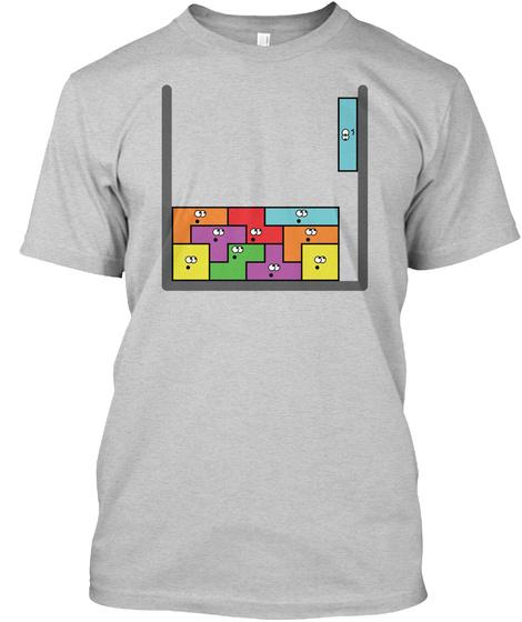Tetris Guys Light Steel T-Shirt Front