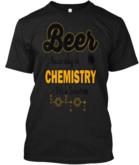 Beer Is A Solution T Shirt  Black T-Shirt Front