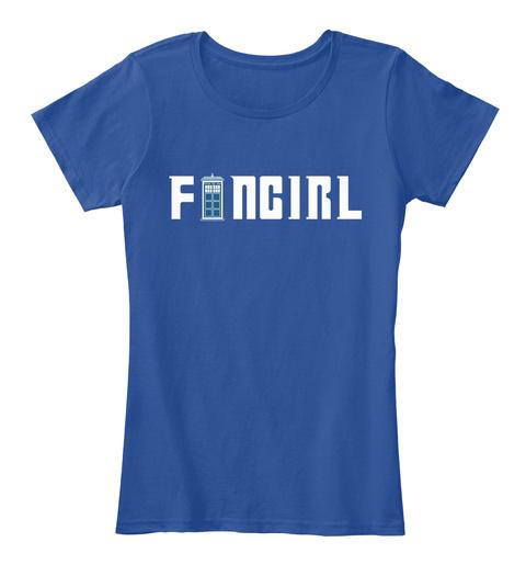 Doctor Fangirl Deep Royal  Women's T-Shirt Front