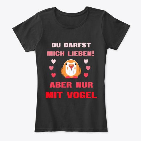 Frau/Mann  Wellensittich Unzertrennlich Black T-Shirt Front