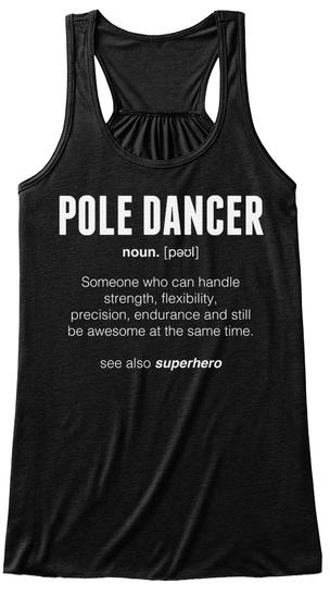 Pole Dancer –Limited Black T-Shirt Front