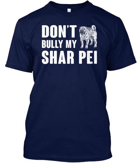 Shar Pei Navy T-Shirt Front