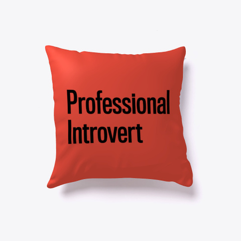 Professional Introvert Red T-Shirt Back