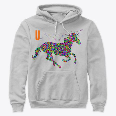 U  Unicorn  Athletic Heather T-Shirt Front