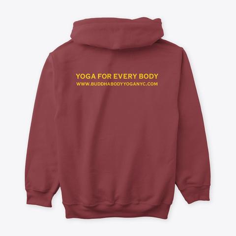 Buddha Body Yoga Logo Tees Maroon T-Shirt Back