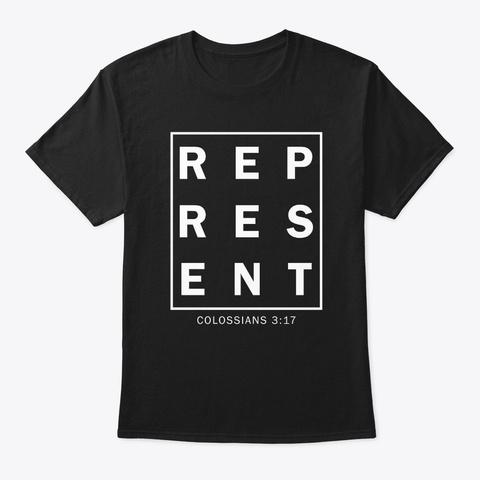 Represent Black T-Shirt Front