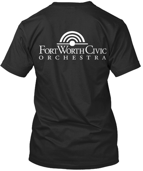 Fort Worth Civic Orchestra Black T-Shirt Back