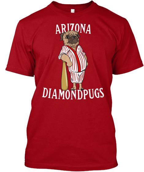 Arizona Diamond Pugs Deep Red T-Shirt Front