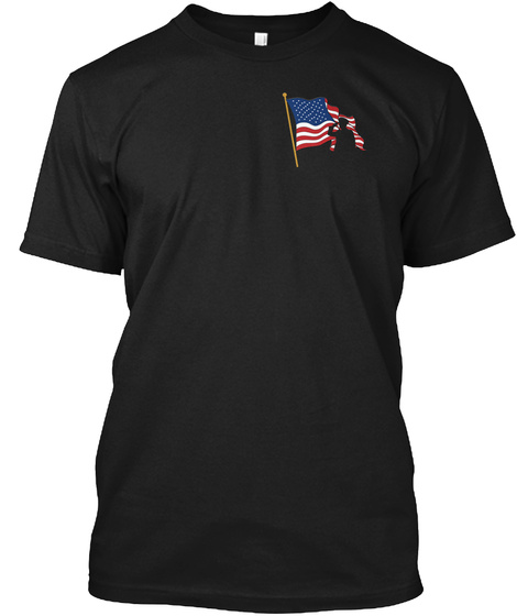 We Stand For The Flag, We Kneel For The  Black T-Shirt Front