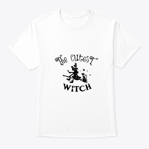 The Cutest Witch Halloween Costume White T-Shirt Front