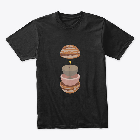 Layers: Jupiter 🚀 #Sfsf Black T-Shirt Front