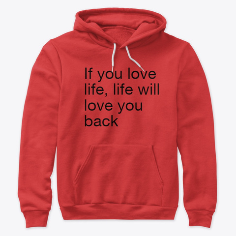 Love Life Red T-Shirt Front