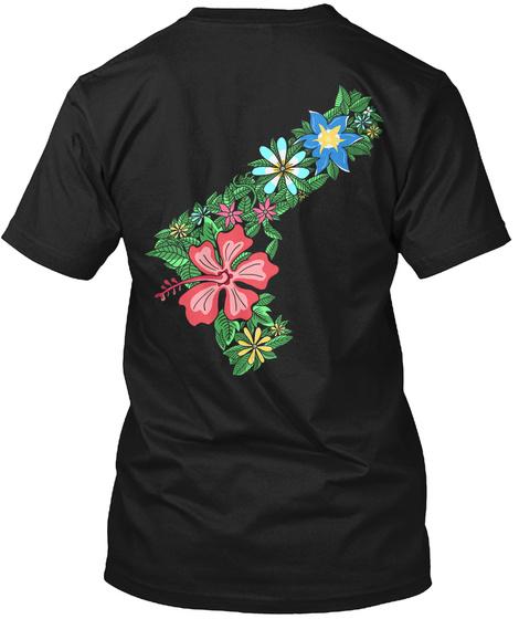 Gun Flower Shirt Black T-Shirt Back