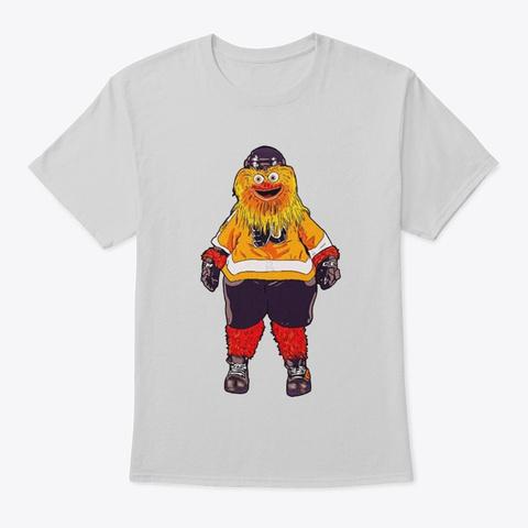 Gritty In Philadelphia Hockey  T Shirt Light Steel T-Shirt Front