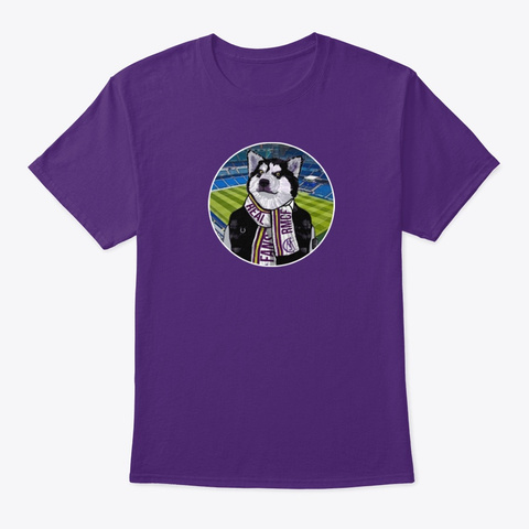 Rmcf Lone Wolf Purple T-Shirt Front