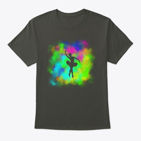 Colorful Ballerina Smoke Gray T-Shirt Front