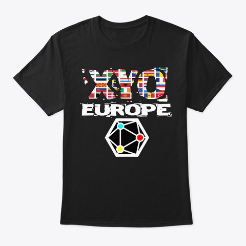 Xyo Europe Design Black T-Shirt Front