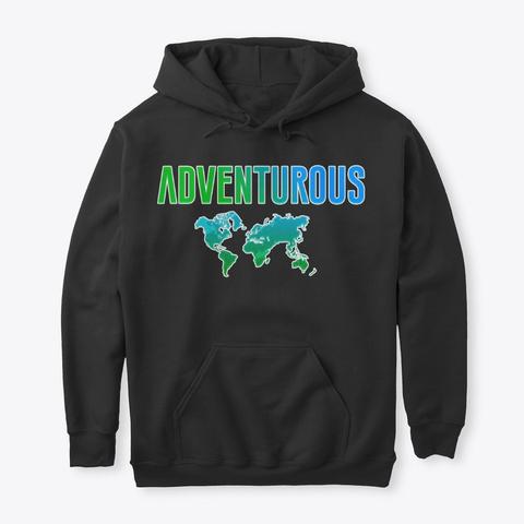 Adventurous 2 Black T-Shirt Front