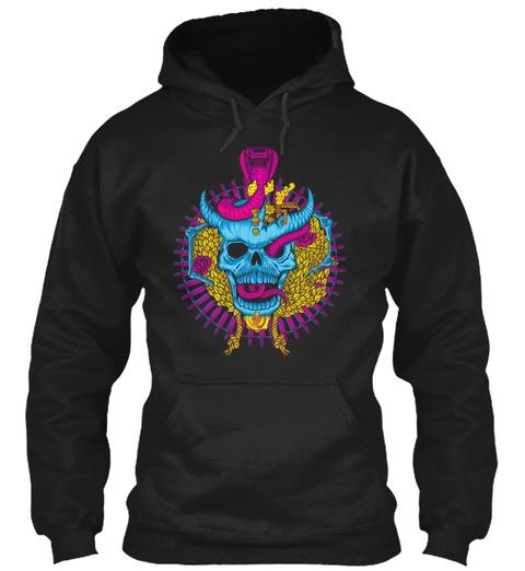 Skull And Snake 1 Shirt Black T-Shirt Front