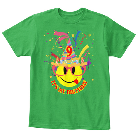 9 Its My Birthday Irish Green T Shirt Front