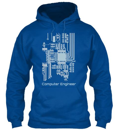 Computer Engineer Royal T-Shirt Front