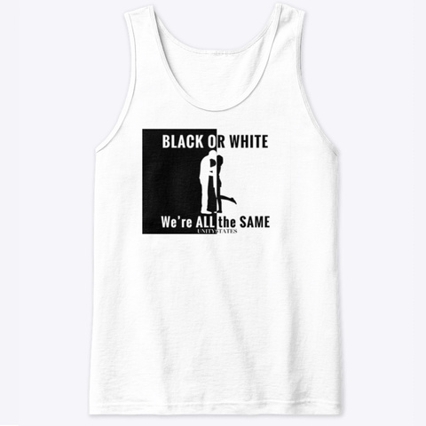 Interracial Line White T-Shirt Front