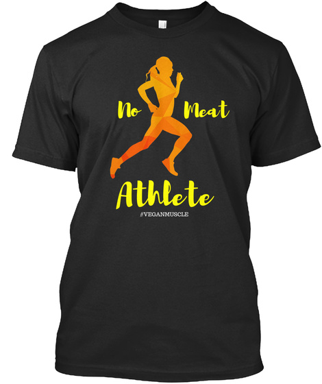 No Meat Athlete #Veganmuscle Black T-Shirt Front