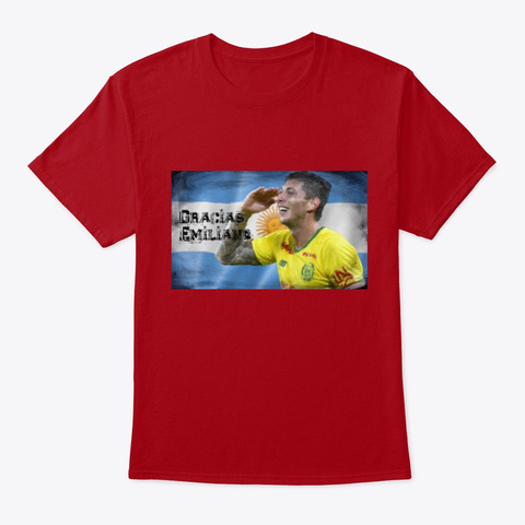 Emiliano Soccer Deep Red T-Shirt Front