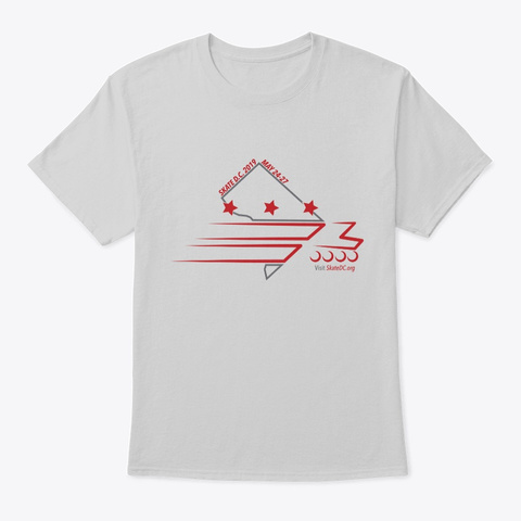 Skate Dc 2019 Shirt Light Steel T-Shirt Front