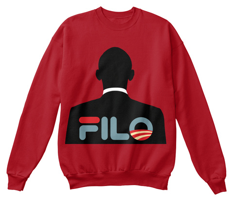 Forever I Love Obama Deep Red  Sweatshirt Front