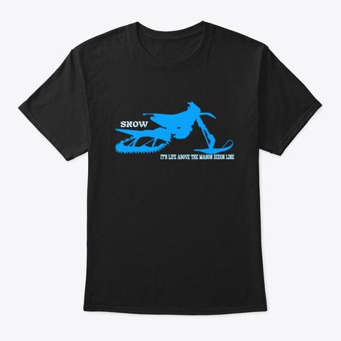 Mens/Unisex Snow Tees Black T-Shirt Front