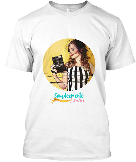 Simplesmente Jessica White T-Shirt Front
