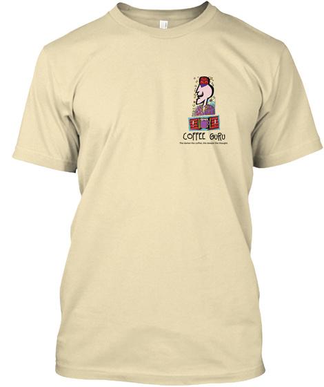 Coffee Guru Emblem Cream T-Shirt Front